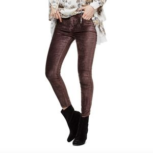 Free People Stretch Velveteen Skinny Jeans